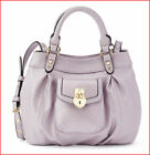 NWT Juicy Couture GLORIA CrossBody LOCKET Mini Tote Purse Bag Metallic LILAC