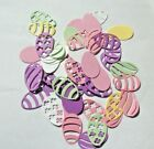 12 card stock Easter Eggs Die Cuts Embellishments fancy and plain Free Shipping