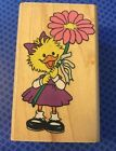 RUBBER STAMPEDE NEW RUBBER STAMP A1289E SUZYS DAISY ZOO DUCK FLOWER