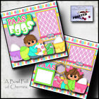 PAAS The Eggs Easter 2 premade scrapbook pages paper piecing layout by cherry