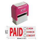 PAID CASH CHECK CREDIT Self Inking Rubber Stamp JYP 4911R 01 RED INK