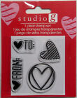 To and From Valentines Day Clear Acrylic Stamps Free Shipping Hampton Art NIP