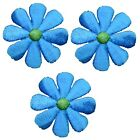 Daisy Applique Patch Flower Blue Green 15 3 Pack Iron on