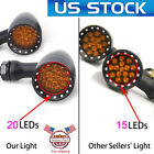 US 20LED Bullet Brake Stop/Running Turn Signal Tail Light For Motorcycle Harley