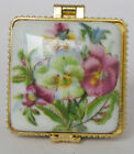 Stunning Porcelain jewelry box painted nice flowers free shipping for USA usa