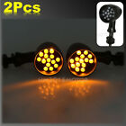 2 X MOTORCCYCLE UNIVERSAL LED TURN SIGNAL AMBER LIGHT BLINKER INDICATOR LAMPS