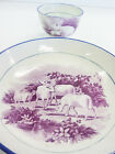Saucer LAMBS Demitasse Porcelain BLUE PURPLE GOLD Gilt