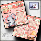 Baby girl shower 2 premade scrapbook pages paper piecing layout 12x12 by cherry