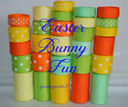 29 yards Easter Bunny Fun Mix Grosgrain Ribbon Wholesale Supplies Wedding Lot