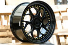 Aodhan DS01 18x95 +30 Gloss Black Fits Tuburon Mazda 3 Eclipse Rx8
