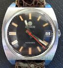 Vintage Lanco Rotor Cal 1146 Men`s Automatic Wristwatch, Running.
