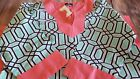 NWT Simply Southern Collection Baklava Tunic Top Pink Green Large