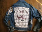 RARE VINTAGE JEAN JACKET PINK FLOYD HAND PAINTED THE WALL SOME RIPS AND TEARS