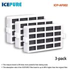 Icepure ICP-AF002 3 Pack Refrigerator Air Filter Compatible with Whirlpool ...