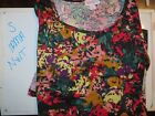 LuLaRoe S Irma NWT Floral Abstract Red Gold purple pink green