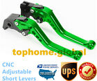 For Kawasaki Ninja 300 400 2013-2018 Short Clutch Brake Levers Green US Z300