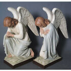 Traditional 28 tall Pair of Hand Painted Adoring Angel Statues Church supply