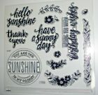 Sunny Thoughts S1802 Close To My Heart sunshine flowers border birthday
