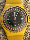 Yellow Racer Swatch Watch