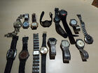 Lot of 15 men's  watch for repair or parts-Swiss Army,Fossil,VW,Ironman etc.