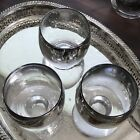 3 Vintage Mid Century Dorothy Thorpe Mercury Faded Roly Poly Glasses Bar Ware