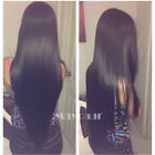 Long Straight wig Heat Resistant Synthetic Lace Front Wig Fashion Black Women