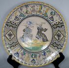 Rare German Faience Armorial Wall Charger Plate Duke of Brabant Gamolla Knight