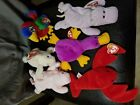 TY Beanie Babies, Happy, Pinchers, Squealer, Nibbler, Jabber, and Patti