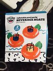 Inflatable Pool Party 3 Pack Juicy Cherries Beverage Boats New In Box