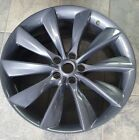 21 INCH 2012 2017 TESLA REAR OEM ALLOY WHEEL RIM 97095 21x9 5x120 CHARCOAL