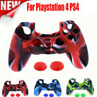 1PC Soft Silicone Case Cover & 2PC Rocker Cap For Playstation PS4 Controller Set