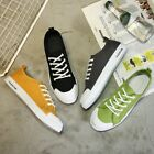 Men Shoes Candy Canvas Comfort Sneakers Sports Flats Lace up Boy Trainer Casual