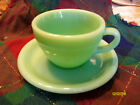Fire King jadite restaurant ware cup and saucer