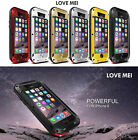 Love Mei Gorilla Glass Shockproof Metal Aluminum Case For iPhone 8 Samsung HTC