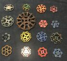 16 VINTAGE ANTIQUE WATER FAUCET KNOB/VALVE HANDLES STEAMPUNK INDUSTRIAL ART
