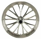 Ultima Polished Manhattan CNC 18 x 35 Front Wheel for Harley