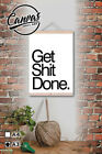 1 canvas printed wall art a3 wood roll up scroll hip style get shit done