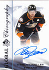 2015-16 SP Authentic Teemu Selanne Auto Global Chirography Anaheim Ducks SP