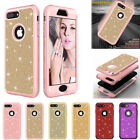 Bling Glitter Heavy Duty Protection Case Bumper Cover for IPhone X 6 6S 7 8 Plus