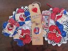 5 Patriotic quilted bunting pieces Bowl fillers, Wreath Tucks, Home decor set #5