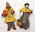 Vintage 1988 Clothtique Figures Man Woman Carolers Xmas Decor Possible Dreams
