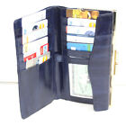EEL SKIN CHECKBOOK COVER WALLET CLUTCH ID CARD DOCUMENT HOLDER STRAP
