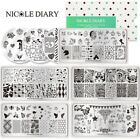 Nicole Diary Nail Art Stamping Plates Unicorn Butterfly Animals Stamp Template