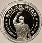 1993 Nolan Ryan 7 No-Hitters Republic Of Liberia 1 Troy Oz .999 Fine Silver Coin