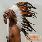 Feather Headdress Feather Hat Chief Indian Headdress American Native Warbonnet S