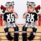 2Pcs Toddler Baby Girls Kids Letter Tops T-hirt Pants Home Outfits Set Clothes