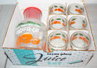 Vintage Anchor Hocking Orange Juice Set Pitcher Unused + 6 Glasses MIB