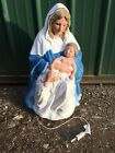 TPI Mary And Jesus Nativity Lighted Blow Mold Christmas Decor