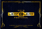 2015 Leaf Clear Football Hobby Box - Factory Sealed!