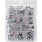 Stampers Anonymous Tim Holtz Cling Stamps 7X85 Mini Blueprints 3